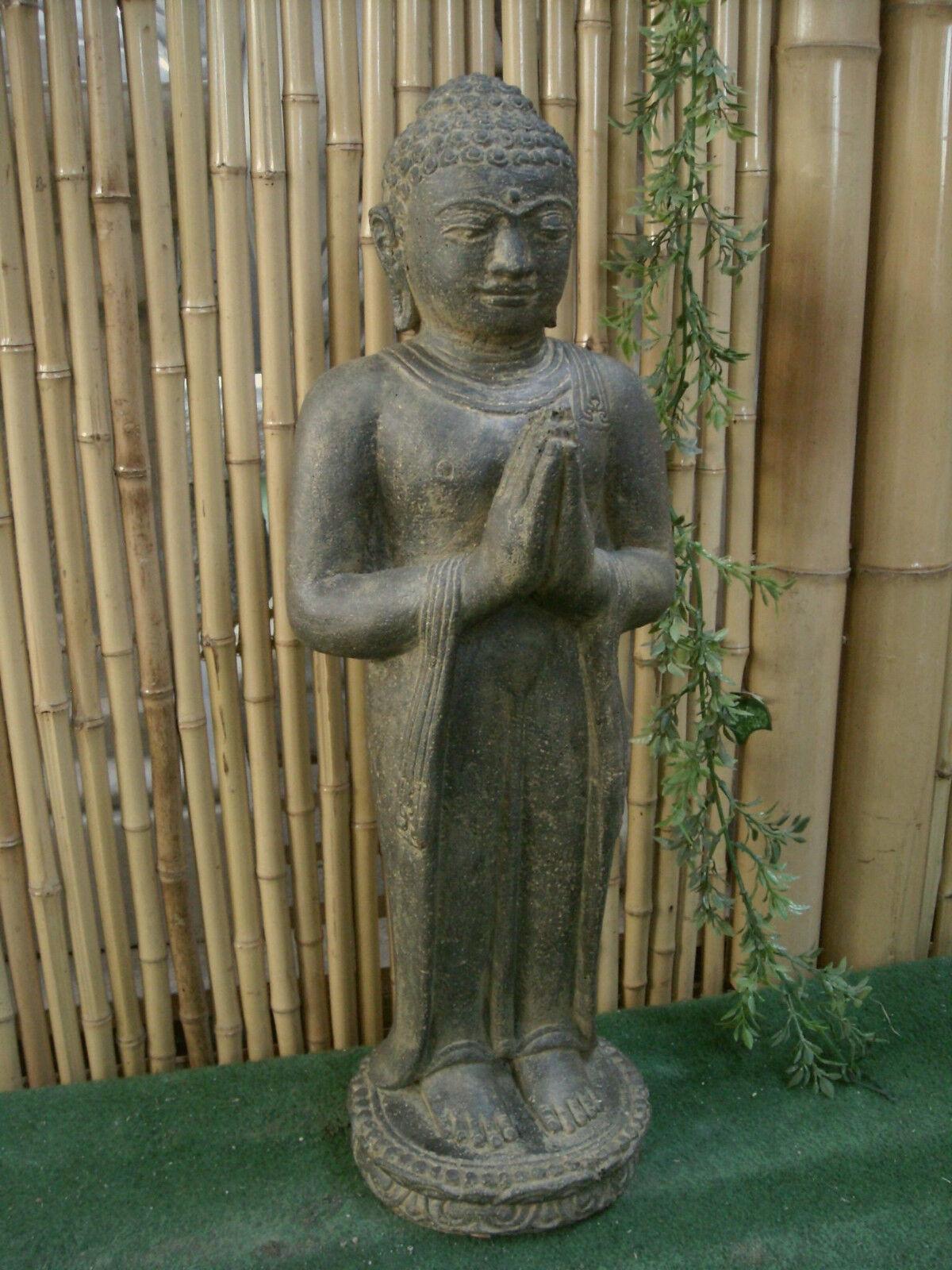 Buddha Posizione Della Mano Begrüssung Feng-Shui per Koi da Stagno,Pietra AP STB