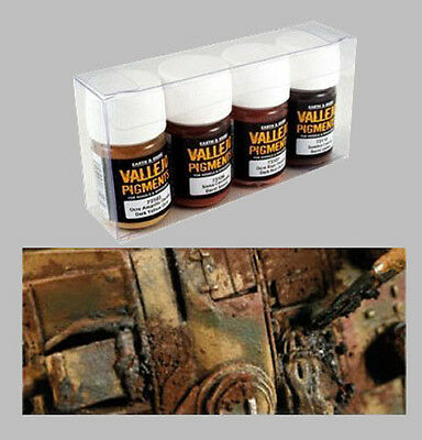 Vallejo Pigments - Set 1 - Rust and Oil- VAL73196