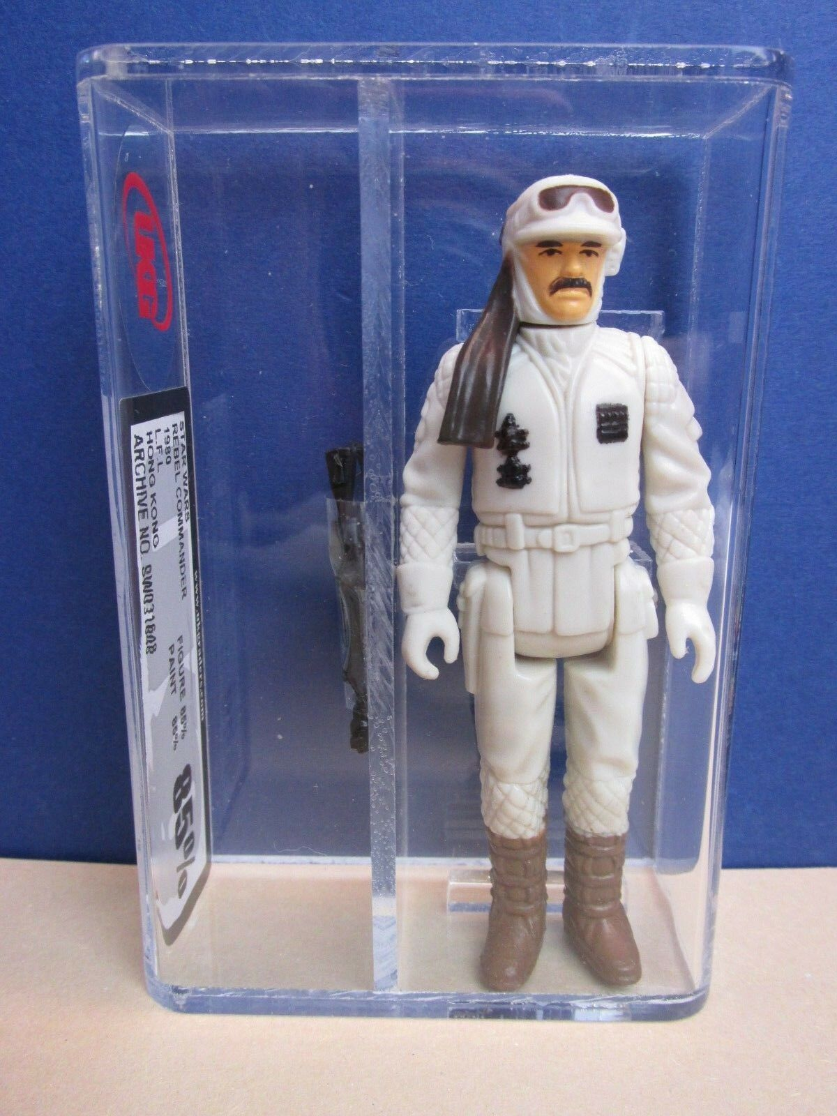 Star wars VINTAGE hoth REBEL COMMANDER ACTION FIGURE HK original UKG not AFA