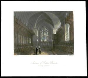 1873-Original-Antique-Print-SURREY-INTERIOR-OF-GATTON-CHURCH-Reigate-GC3-30