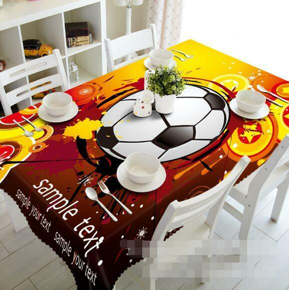 3D Football 260 Tablecloth Table Cover Cloth Birthday Party Event AJ WALLPAPER