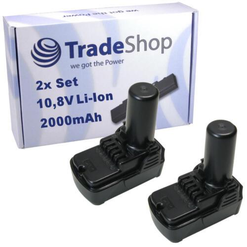 2x trade-shop Batterie 10,8v 2000mah Li-Ion pour Hitachi wh10dcl wh10dl wh10dfl