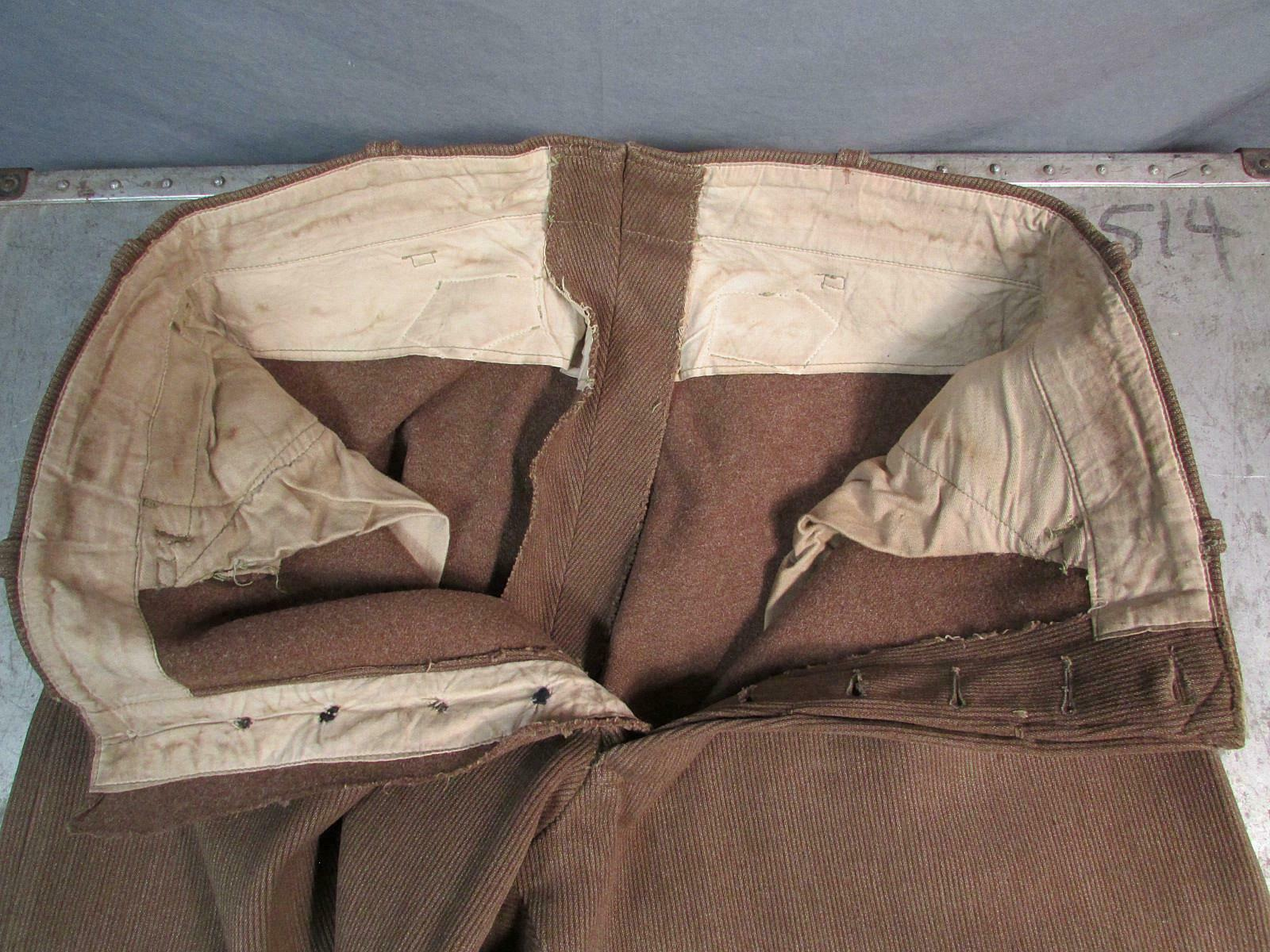 Vintage 1910s Wool Whipcord Riding Pants WWI Mili… - image 10