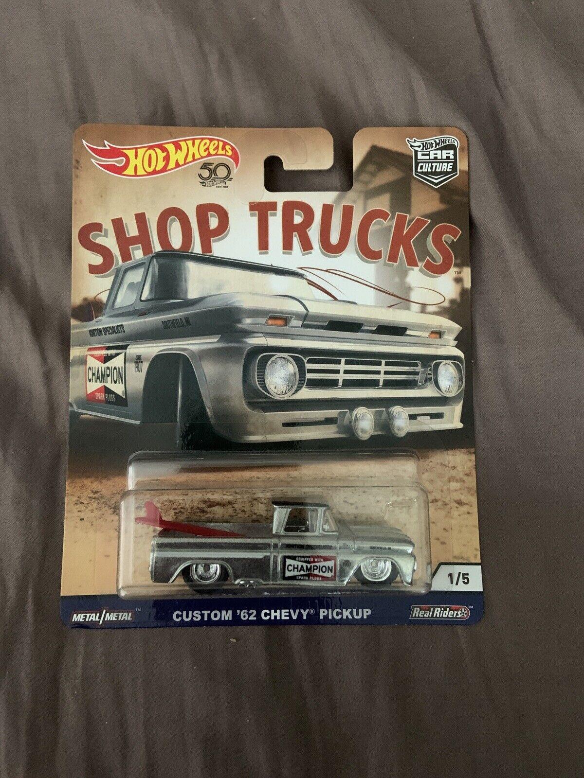 /'83 Chevy Silverado Pickup Shop Trucks Car Culture 1:64 Hot Wheels FLC22 FPY86