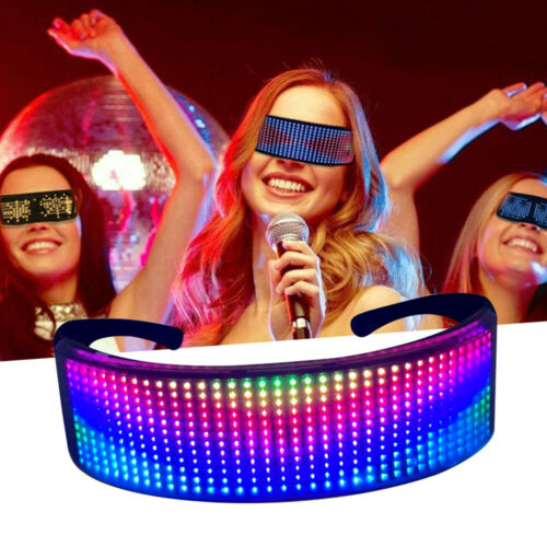 Smart Bluetooth Full-color Luminous LED Glasses Party Glow Glasses APP Control