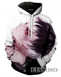 New Women Men Casual Anime Tokyo Ghoul Rainy 3D Print Sweatshirt Hoodies