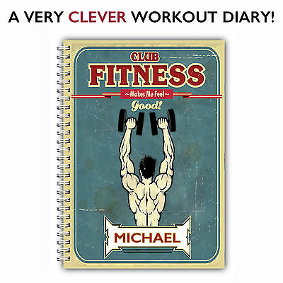 A5 Personalised Weight Training Log Book/gym Diary/ Workout Journal