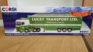 Corgi-CC13777-Scania-R-amp-Curtainside-LUCEY-Transport-Ltd-Edition
