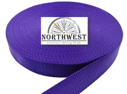 1 Inch 5 Yards Purple Heavy Nylon Webbing  Strapping ~ NW7215