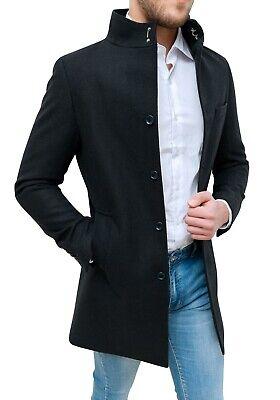 cappotto nero uomo corto