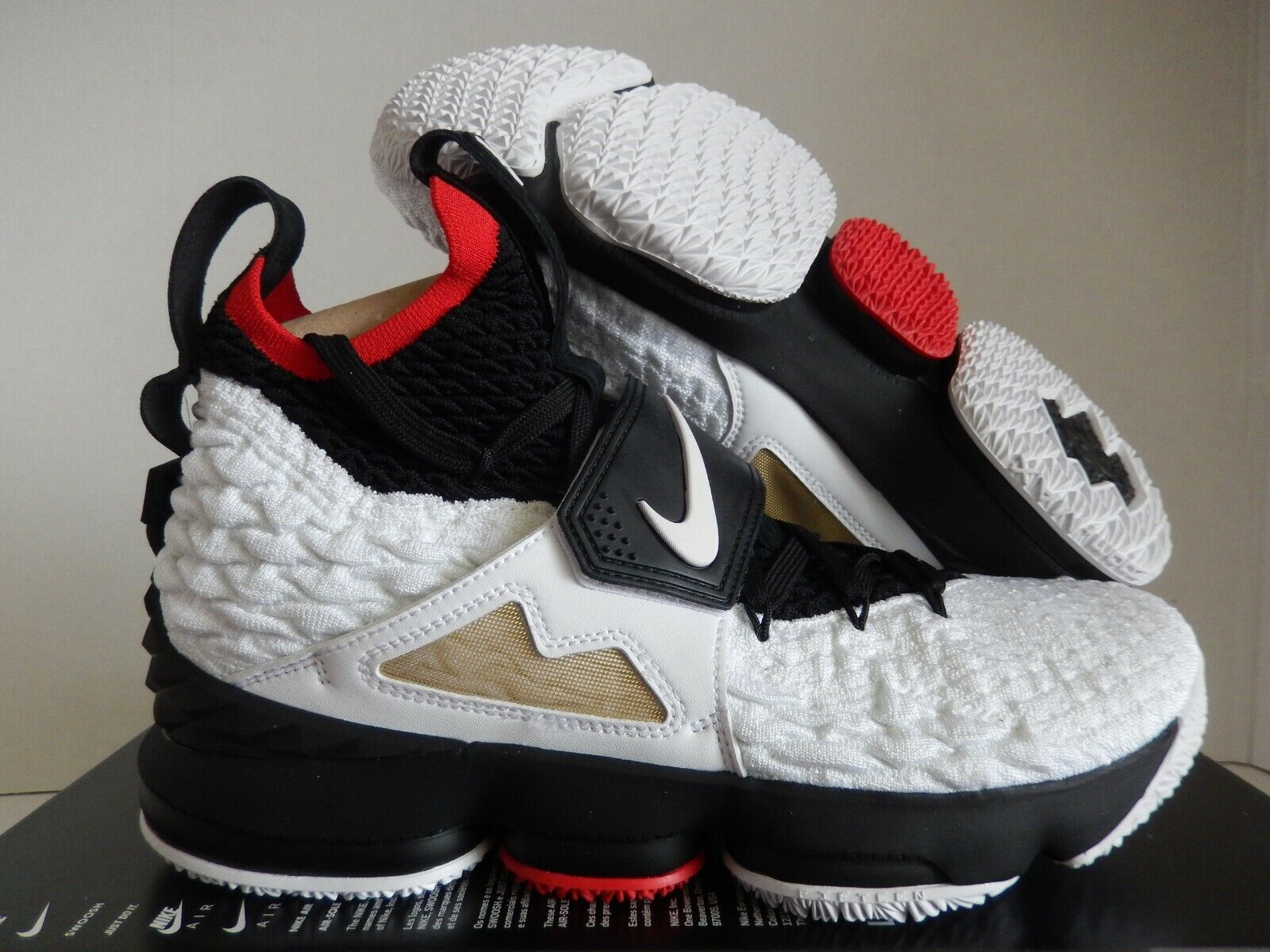 new concept bf0f0 e9226 Nike Lebron XV 15 Prime Diamond Turf Deion Sanders White Black Ao9144-100 15