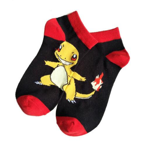 New Cute Cartoon Pikachu Ladies Invisible Boat Socks Elf Ball Lovers Cotton Sock