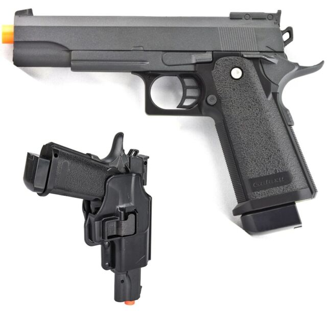 Uk Arms G6h Spring Pistol Airsoft Gun W Hard Shell Holster Black 31522 For Sale Online Ebay