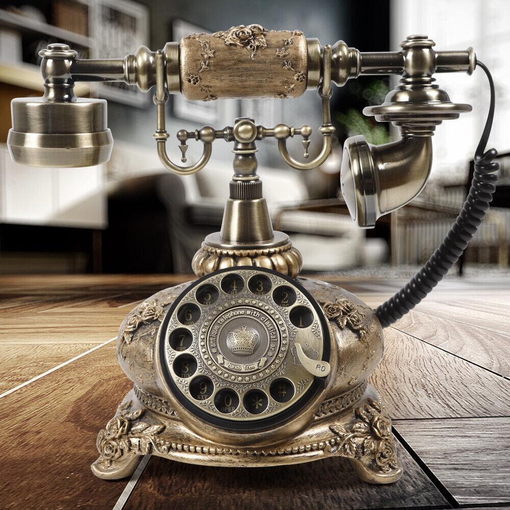 Antique Telephone Set European Retro Office Sitting Machine Home Home Living Room Creative Seat Landline