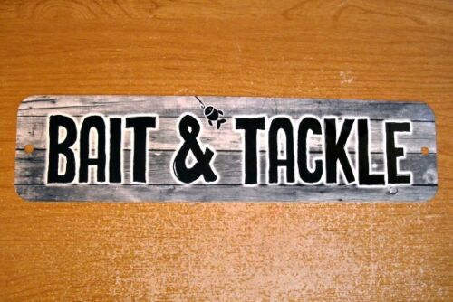 Metal Sign BAIT /& TACKLE shop fishing fisherman fish sport gear hooks lines