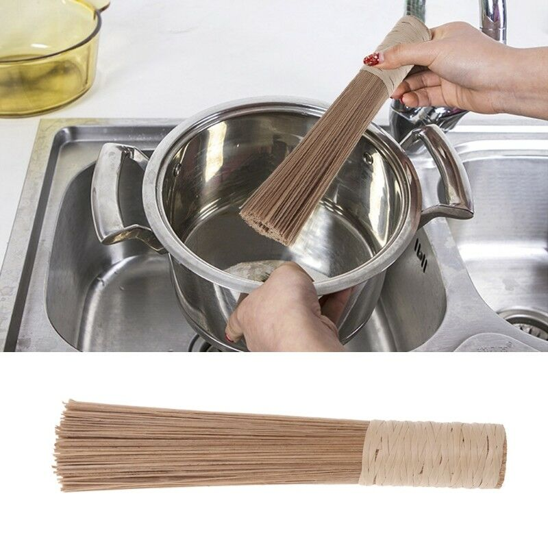 """Paderno World Cuisine 10/"""" Traditional Bamboo Wok Brush Cleaning Whisk"""