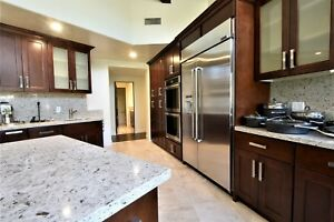 10'x10' Chestnut Shaker Solid Wood Kitchen Cabinets - 5/8 ...