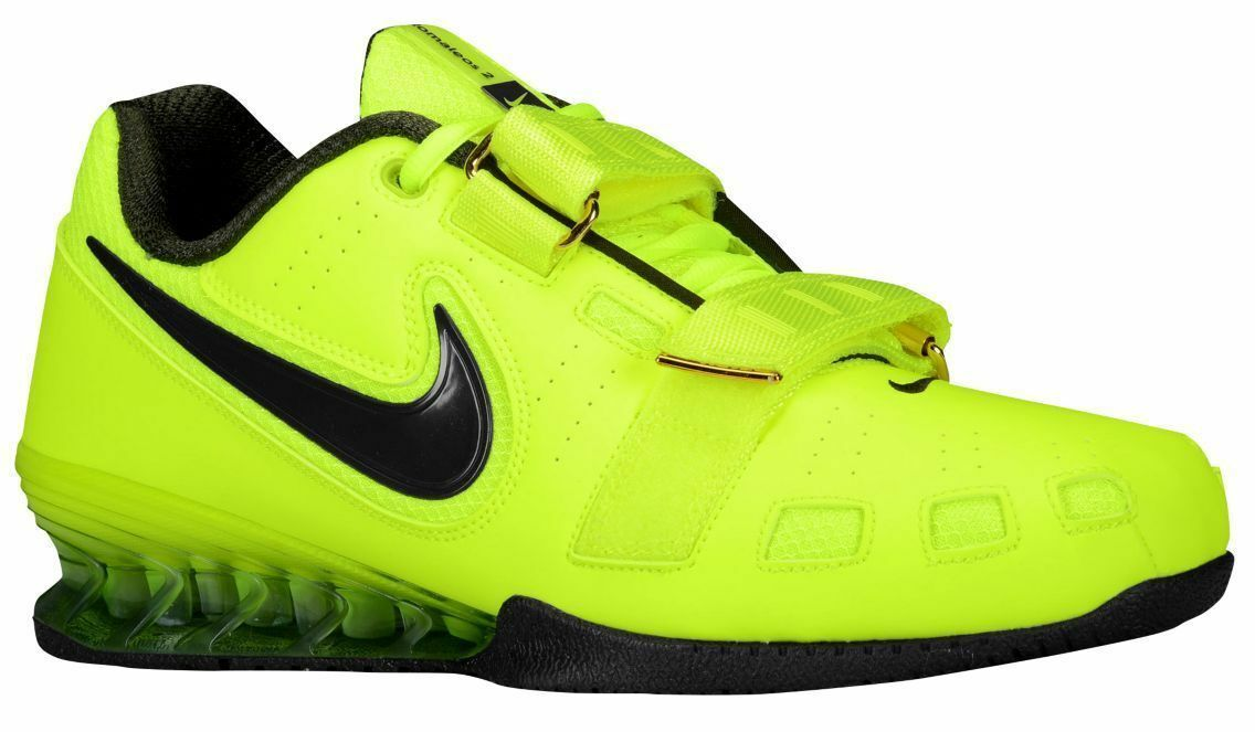 New Men's Nike Romaleos 2 Weightlifting Shoes Volt Sequoia Size 15 476927 730