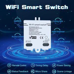 AC100-240V 5A Wifi Wireless Smart Switch APP Remote Control Smart Home Module