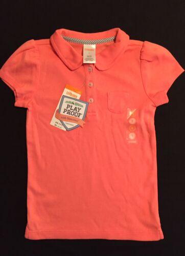 NWT Gymboree Girls Uniform Shop Nanotex Play Proof Dark Pink Polo Size 4 5 6 /& 7