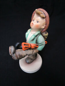 "Goebel Hummel Figurine; The Happy Traveler Boy Umbrellal TMK5 7-1/2"" 79; Germany"