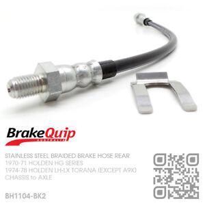 Details about STAINLESS BRAIDED BRAKE HOSE REAR DIFF [HOLDEN LH-LX TORANA  HATCHBACK/4 DOOR] BK