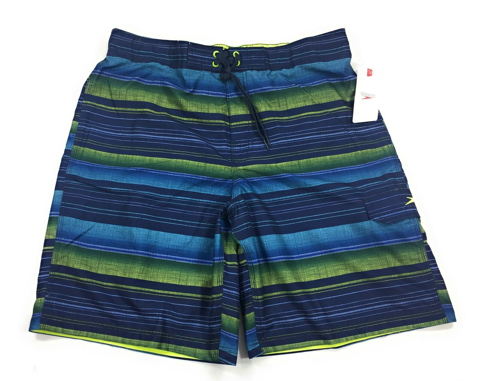 Speedo Board Shorts Mens Swim Suit Trunks Navy Stripe