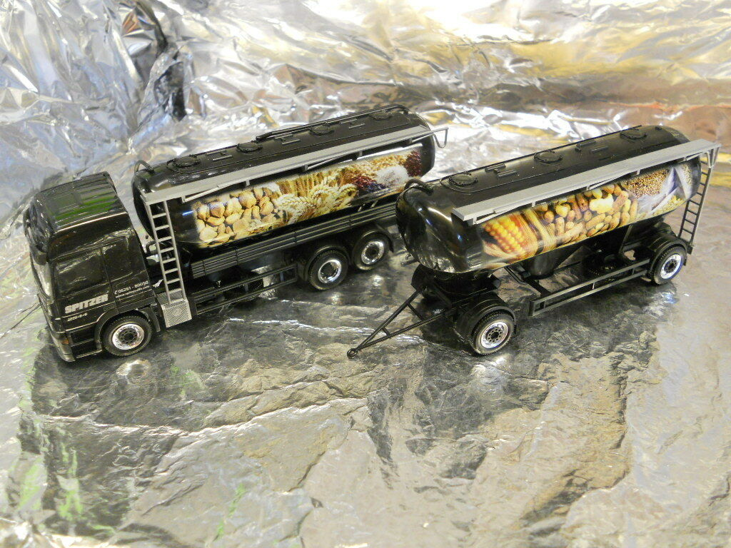 Herpa 294782 MB Actros L Silo Trailer Spitzer Forage 1 87 H0 Scale Model