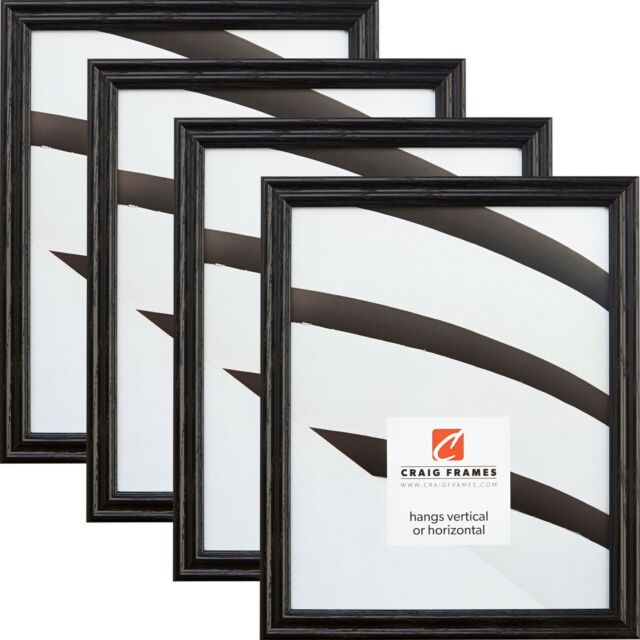 Craig Frames 200ashbk 18 By 24 Inch Picture Frame 4 Piece Set Real Wood Wide