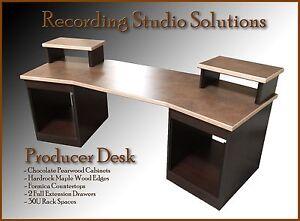 Recording Studio Desk Chocolate Pearwood Finish w Maple Edge eBay
