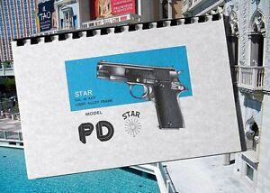 star model pd 45 cal acp pistol gun owners manual ebay rh ebay com Marksman Air Pistol Manual M9 Pistol Manual