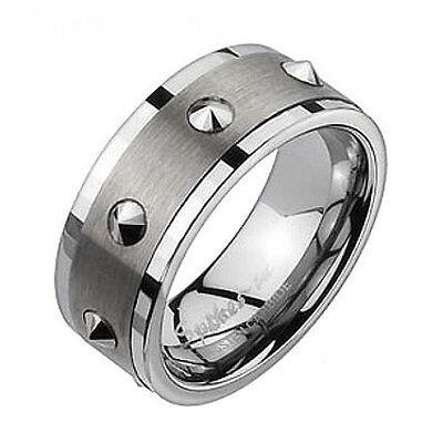 R30 Herren Ring Tungsten 9 mm MIT SCHMUCKBEUTEL Ringe Schmuck Wolfram Mens Rings