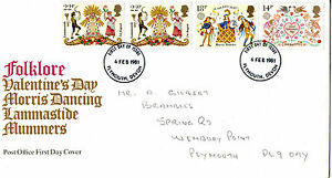 6 FEBRUARY 1981 FOLKLORE POST OFFICE FIRST DAY COVER PLYMOUTH DEVON FDI - <span itemprop=availableAtOrFrom>Weston Super Mare, Somerset, United Kingdom</span> - If the item you received has in any way been wrongly described or we have made a mistake regardless of the nature we will pay your return postage costs. If however the - Weston Super Mare, Somerset, United Kingdom