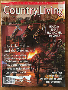 Country living magazine 1998 christmas decorations recipes for Country living magazine recipes