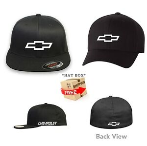 aa1179952 Details about CHEVY Chevrolet FLEXFIT HAT CURVED or FLAT CURVED BILL *FREE  SHIPPING in BOX*