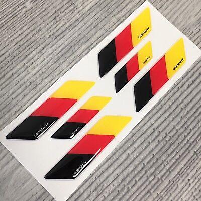 Germany German flag 3pc domed emblem decal stickers BMW Mercedes Porsche VW