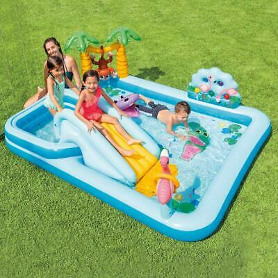 Luminosa Piscina Gonfiabile Jungle Adventure Intex 57161 - 257x216x84 Cm Per Bambini