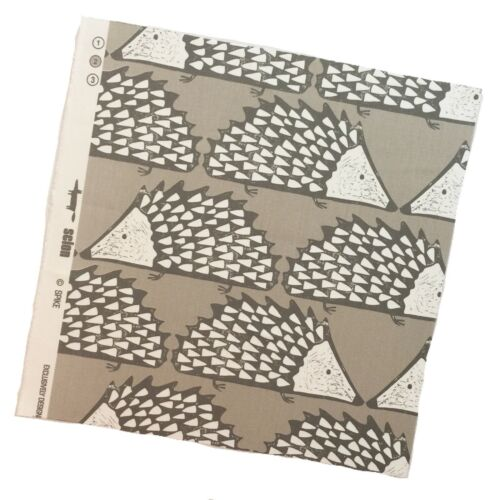 NEW Scion Spike Hedgehog Fabric Remnant Mink 40cmx40cm Cushions//Crafts//Kids
