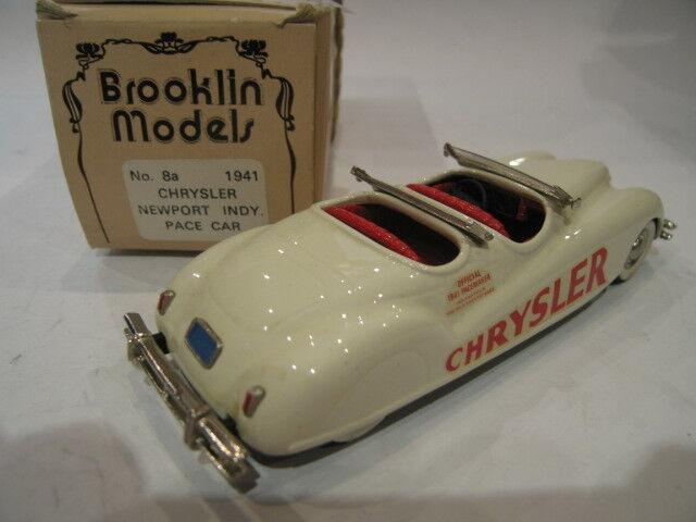 1 43 BROOKLIN 8A 8A 8A CHRYSLER NEWPORT INDY PACE CAR 1941 9f835e