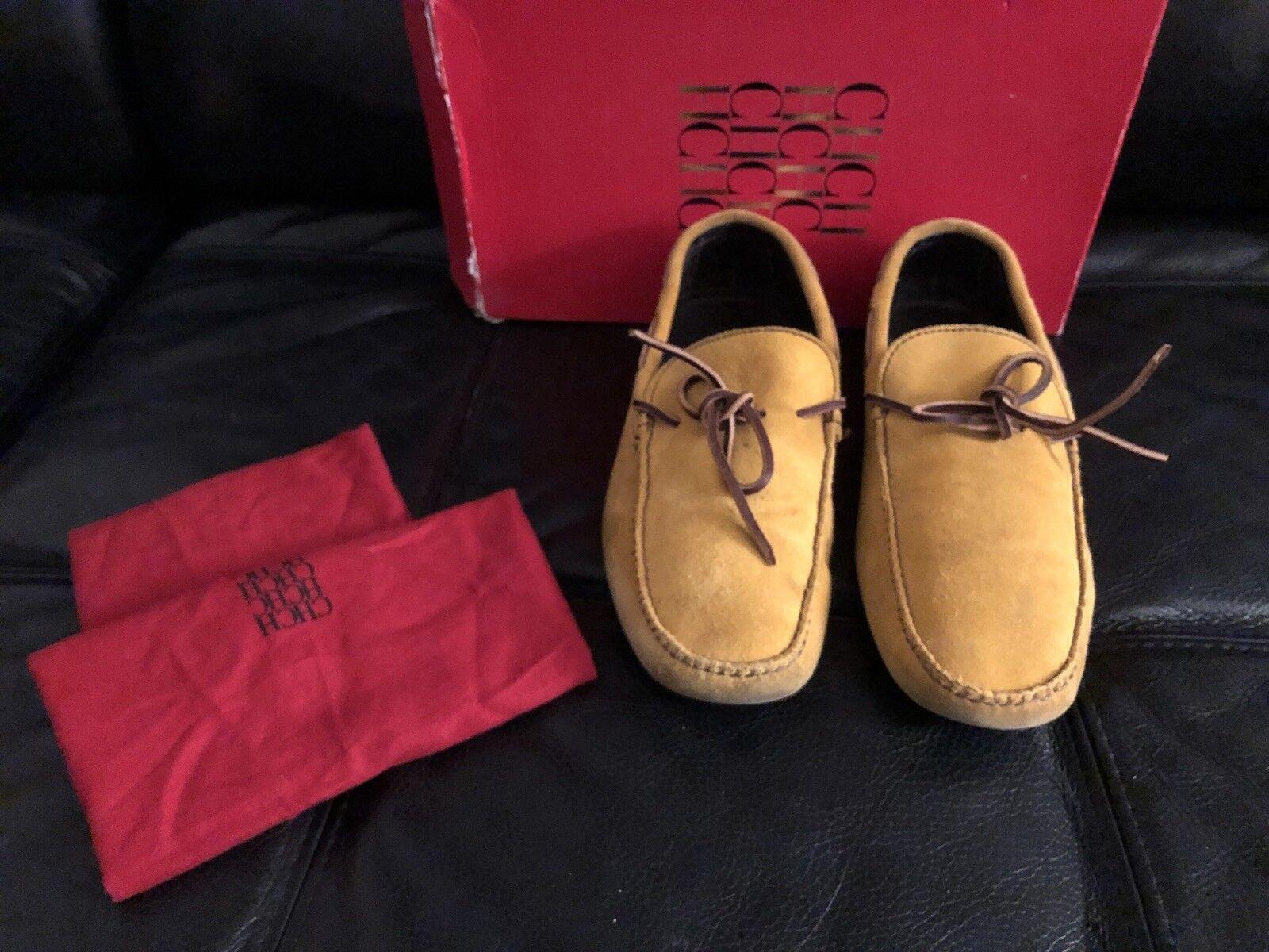 CH By Carolina Herrera  Mustard Suede Men's Mocassin Loafers shoes Sz 8