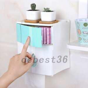 Self Adhesive Toilet Paper Holder Waterproof Wall Mount Bathroom Tissue Useful