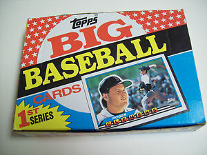 Details About Box Of Topps 1st Series Big Baseball Cards 1988