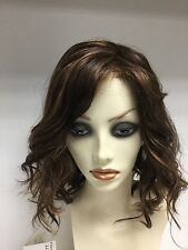 JON RENAU Beach Waves Synthetic Lace Front Wig, Average, Brown with highlights