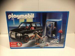 Playmobil-4059-Tresorknacker-mit-Fluchtfahrzeug-amp-Tresor-Figuren-Set-Neu-amp-Ovp