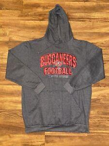 Tampa Bay Buccaneers Bucs NFL Men's Gray Hoodie Size XLT Team Apparel
