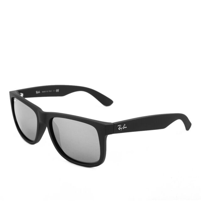 e1634331063594 Ray-Ban Justin RB4165 622/6G 55 Matte Black Silver Mirrored Sonnenbrille