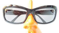 Sonnenbrille groß schwarz Rodenstock Strass Decor Glitzer dunkel Gr L mondän