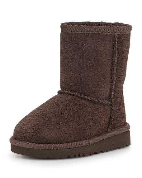 93a3ed6d5a0 UGG Australia Kids Classic II Ankle BOOTS Chocolate Brown Sz 2 1017703k