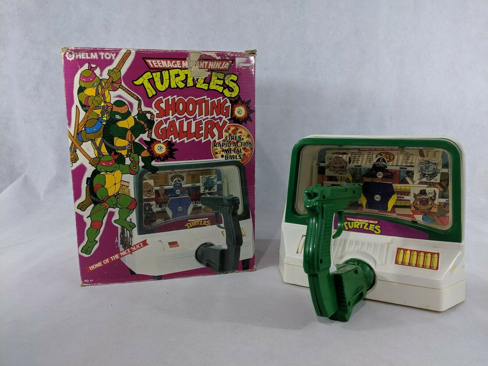Teenage Mutant Ninja Turtles TMNT Shooting Gtuttiery Vintage giocattolo w scatola