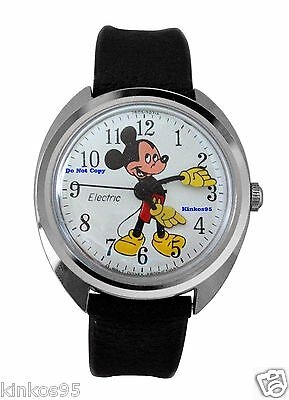 Vintage New Disney Timex Mickey Mouse Electric Watch HTF